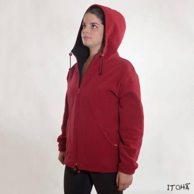 veste fermeture capuche femme
